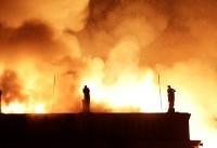 نشت گاز شهری یک خانه دو طبقه را منفجر کرد