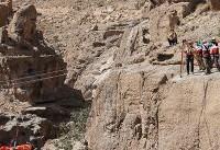 نجات کوهنورد مفقود شده در کوه ارنان یزد