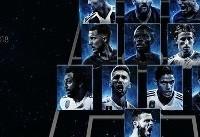 تیم منتخب ۲۰۱۸ فوتبال جهان اعلام شد/ دشان و کورتوا در جمع برترین ها