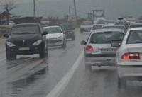 بارش باران در برخی جادههای گیلان و آذربایجان شرقی