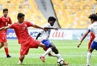 تساوی ایران مقابل هند در دومین بازی/ شاگردان چمنیان در حسرت برد