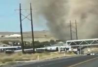 توده گرد و غبار عظیم در ایالت یوتا آمریکا + فیلم