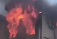 آتش سوزی در بروکلین ۸ مجروح برجای گذاشت +فیلم