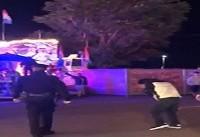 برخورد پلیس آمریکا با چاشنی لگد و اسپری فلفل + فیلم