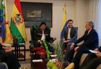 دیدار وزیر دفاع ایران با رییس جمهور بولیوی +عکس