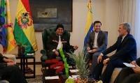 دیدار وزیر دفاع با رییس جمهوری بولیوی (+عکس)