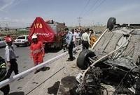 واژگونی و آتش سوزی خودرو پراید در بوشهر جان ۴ تن را گرفت