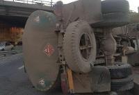 جزئیات حادثه واژگونی تانکر حمل سوخت در سه راهی اهر