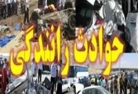 مصدومیت ۱۳ مسافر به دلیل برخورد مینی&#۸۲۰۴;بوس با کامیون در گیلان