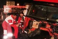 ۸۷ مصدوم در تصادف ۵ خودرو