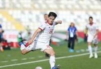 آزمون یکی از پنج بازیکن برتر جام ملت ها در مرحله گروهی