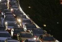 ترافیک سنگین در برخی مقاطع آزادراه قزوین - کرج و قم - تهران