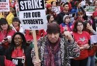 اعتصاب آموزگاران آمریکا به روز پنجم کشیده شد