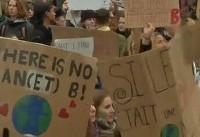 حضور هزاران دانشآموز بلژیکی در راهپیمایی حمایت از محیط زیست