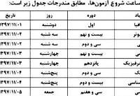 برگزاری آزمون المپیادهای علمی از اول تا پنجم بهمن ماه + جدول زمانی