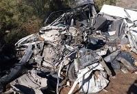 تصادف در جاده اهواز - خرمشهر پنج کشته بر جا گذاشت (+عکس)