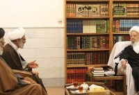 دیدار و گفتوگوی نماینده ولی فقیه در سپاه پاسداران با مراجع عظام تقلید