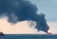حریق مرگبار در ۲ کشتی باری در شبه جزیره کریمه