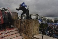 Clashes in Athens as tens of thousands protest Macedonian name deal
