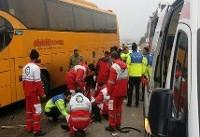 واژگونی اتوبوس ۱۲ نفر را راهی بیمارستان کرد