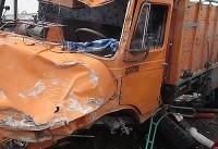 تصادف با کامیون جان عابر پیاده را گرفت
