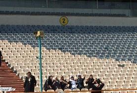 حضور زنان در ورزشگاه آزادی (عکس)