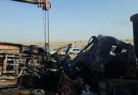 شناسایی هویت ۱۲ کشته حادثه تصادف تریلی با مینیبوس در گلستان