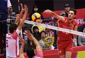 آمار بازی تیم ملی والیبال ایران مقابل تونس