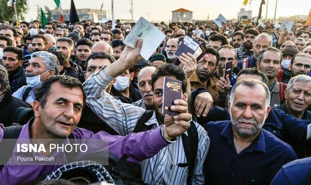 بارش باران در نجف: سفر ۳ میلیون زائر ایرانی به عراق از ابتدای محرم