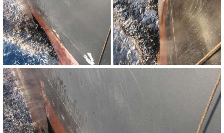 تصاویر آسیب دیدگی بدنه نفتکش: اصابت دو فروند موشک