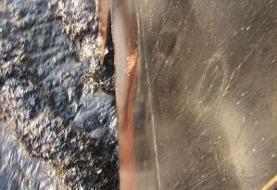 تصاویر جدید از بدنه نفتکش آسیب دیده ایرانی