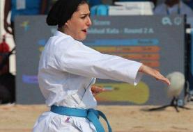 اولین مدال ایران در بازیهای ساحلی جهان/ نقره فاطمه صادقی در کاراته