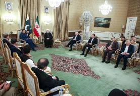 (تصاویر) دیدار روحانی با عمران خان؛ نخستوزیر پاکستان