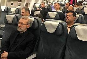 (عکس) سفر رئیس مجلس به صربستان با پرواز عادی