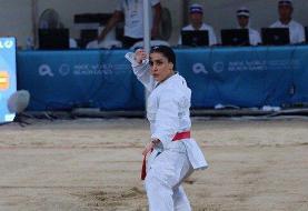 نایب قهرمان بازیهای ساحلی جهان: خوشحالم اولین مدال کاروان را گرفتم