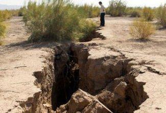 فرو نشست در دشت های ایران