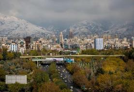 کاهش غلظت آلایندههای هوای تهران طی امروز