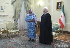 Iranian president meets with visiting South African minister
