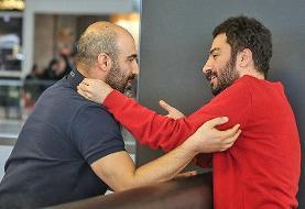 نوید محمدزاده و محسن تنابنده در مراسم جوایز مشهور به «اسکار آسیایی»