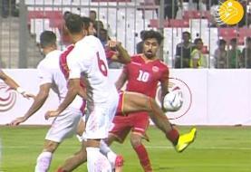 (تصاویر) پنالتی دقیقه ۹۴ ایران برابر بحرین سوخت؟