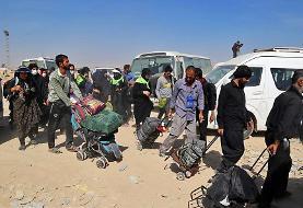 (تصاویر) بازگشت زائران اربعین از مرز مهران