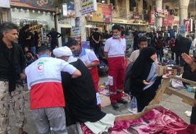 ارائه خدمات درمانی هلال احمر به بیش از یک میلیون زائران اربعین حسینی