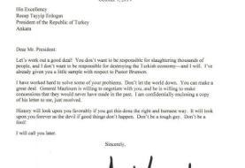 واکنش ترکیه به نامه ترامپ به اردوغان: نامه را به سطل آشغال انداختیم