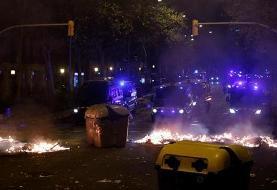 اسپانیا؛ درگیری پلیس و طرفداران استقلال کاتالونیا (+عکس)