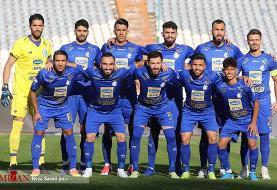 ترکیب استقلال برای بازی با فجر شهید سپاسی مشخص شد