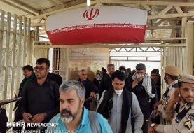 ورود حدود ۶۰۰ هزار زائر از مرزهای غربی به کشور