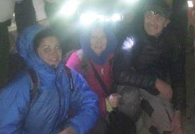 نجات ۳ گردشگر فرانسوی گرفتار در باتلاق «بندر رحمانلو» آذربایجان شرقی