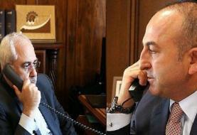 گفت وگوی تلفنی ظریف و چاووش اوغلو پیرامون تحولات سوریه