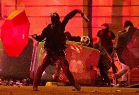 خشونت و درگیری در چهارمین شب تجمع جداییطلبان کاتالان در اسپانیا