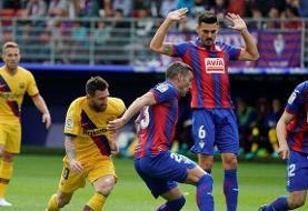 بارسلونا موقتا صدرنشین شد